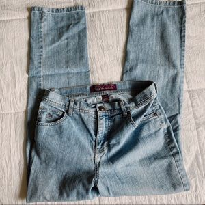 cropped vintage jeans //